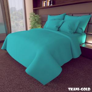 Ткань для постельного белья Бязь Голд Бирюзовая