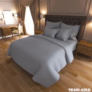 Ткань для постельного белья Бязь Голд Серая